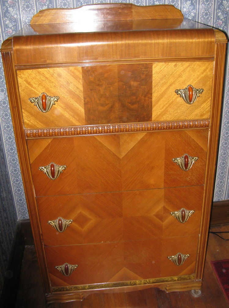 Art Deco Waterfall Bedroom Furniture On Antique Art Deco Waterfall