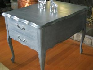 FAUX ZINC END TABLE