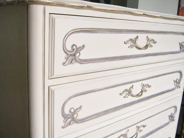 French Provincial dresser with Old Violet and gilding
