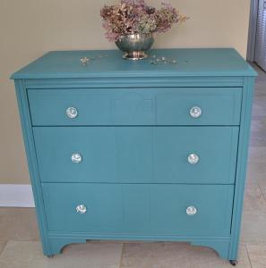 teal dresser #1