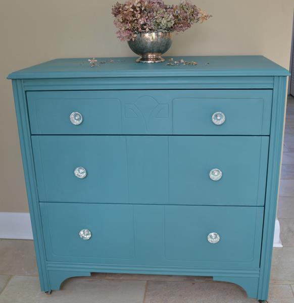 Peacock Blue Chalk Paint UpwithFurniture